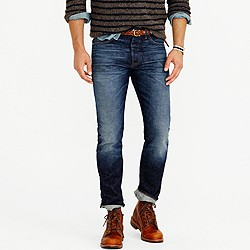 Wallace & Barnes slim selvedge jean in Riverland wash