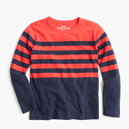 Boys 39 Long Sleeve T Shirt In Engineered Stripe T Shirts