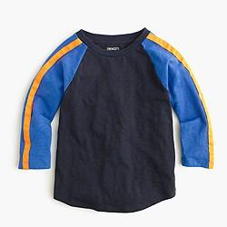 Boys' three-quarter-sleeve baseball T-shirt in stripe