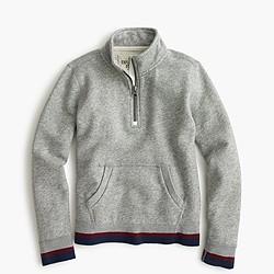 Boys' varsity zip-neck sweatshirt