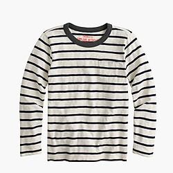 Boys' long-sleeve T-shirt in classic stripe