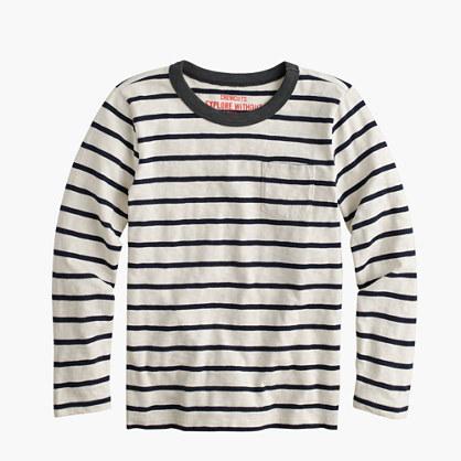 Boys 39 Long Sleeve T Shirt In Classic Stripe Stripes