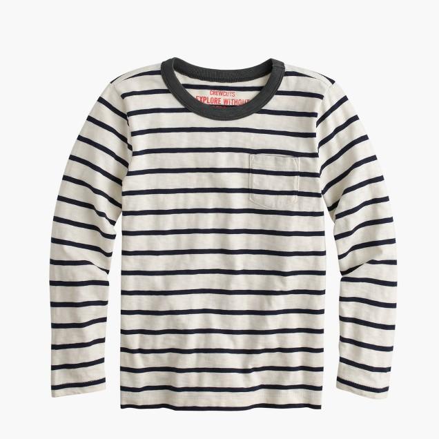 Boys 39 Long Sleeve T Shirt In Classic Stripe J Crew