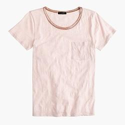 Pocket T-shirt with metallic trim