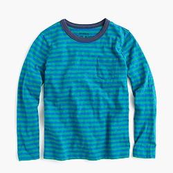 Boys' long-sleeve T-shirt in skinny stripe