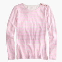 Long-sleeve striped painter T-shirt