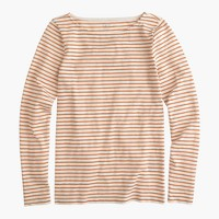Long-sleeve painter T-shirt in metallic stripe
