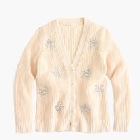 Girls' sequin-star cardigan sweater