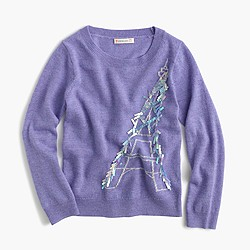 Girls' Eiffel Tower popover sweater