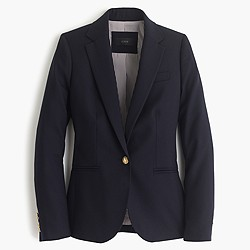Petite Campbell blazer in wool flannel