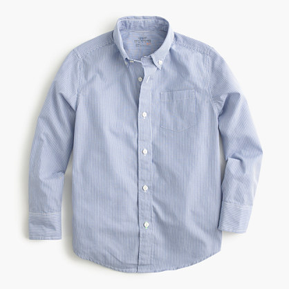 Boys' Secret Wash shirt in pinstripe