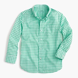 Boys' Secret Wash shirt in bright gingham