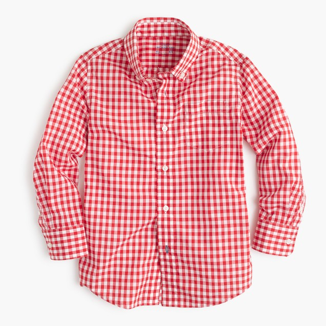 Kids' Secret Wash shirt in bright gingham