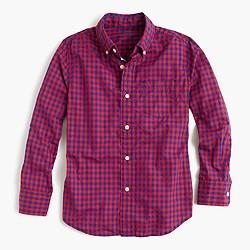 Kids' Secret Wash shirt in bright gingham