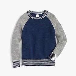 Boys' crewneck baseball sweater