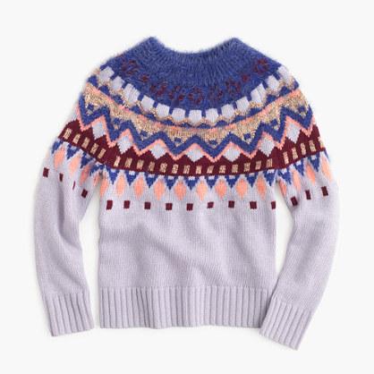Girls' sparkle wool sweater