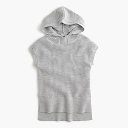 Girls' sleeveless hooded popover sweater