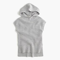Girls' sleeveless hooded popover sweater