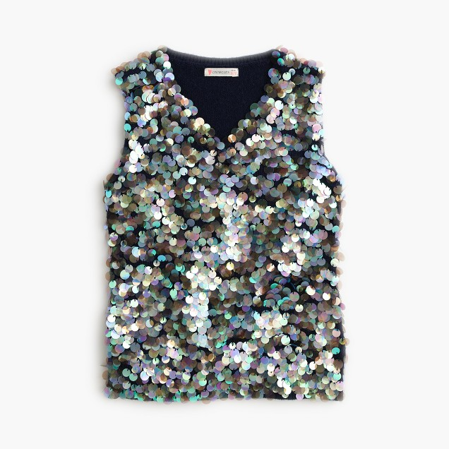 Girls' sequin tank top