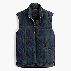 Sussex quilted vest in Black Watch