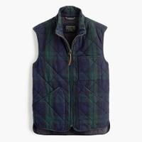 Sussex quilted vest in Black Watch