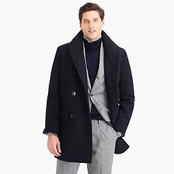 Shawl-collar peacoat with Thinsulate®