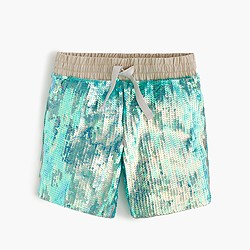 Girls' iridescent sequin short