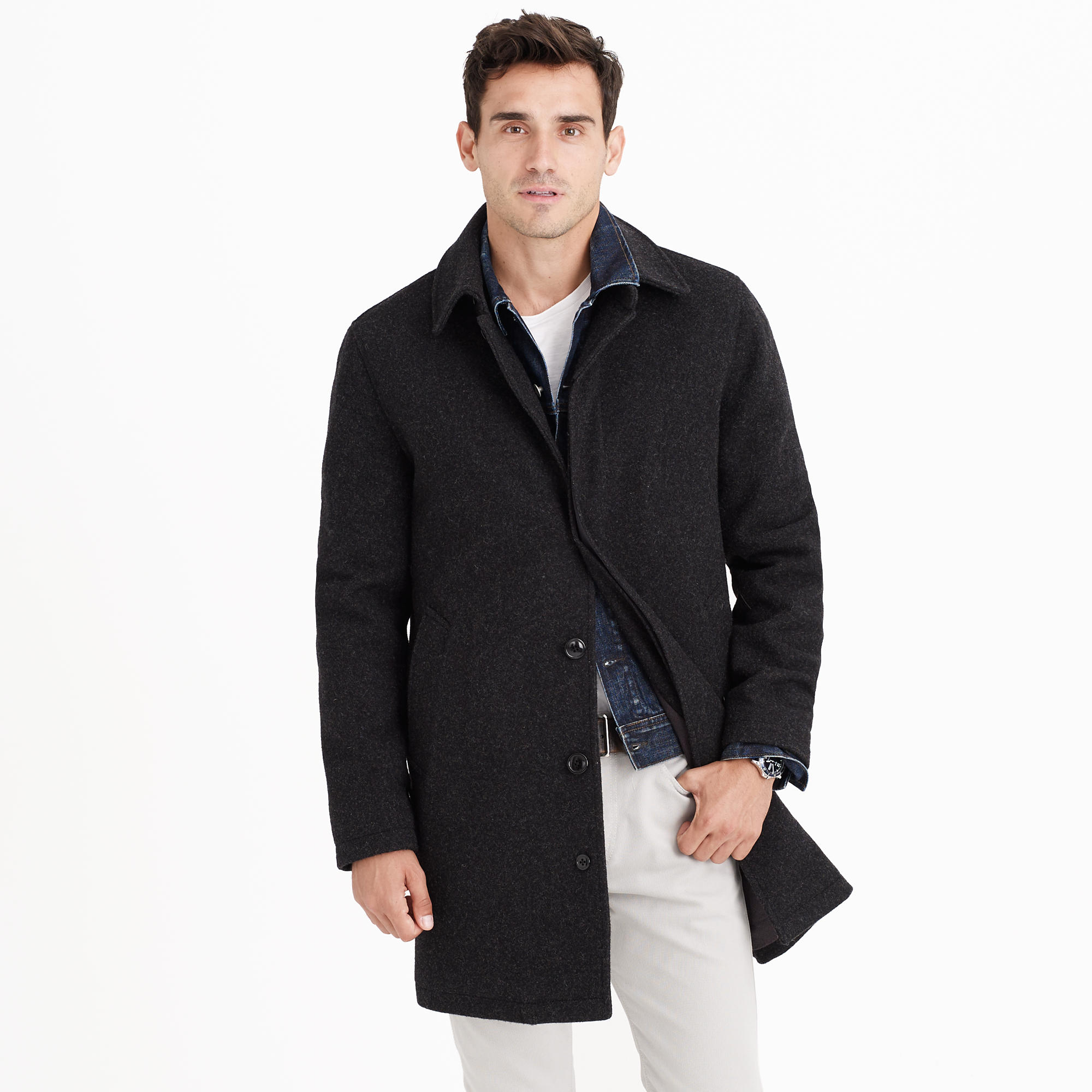 Wool car coat with Thinsulate® : | J.Crew