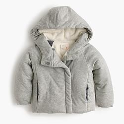 Girls' wrap puffer jacket