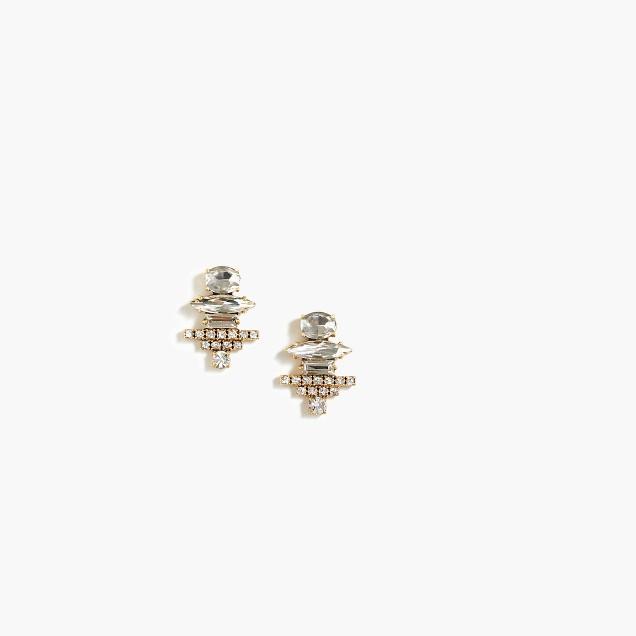 Crystal tower earrings