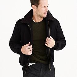 Wallace & Barnes sherpa-collar wool bomber jacket