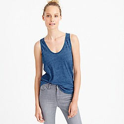 Indigo vintage cotton tank top