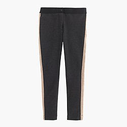 Girls' Pixie pant in sparkle stripe