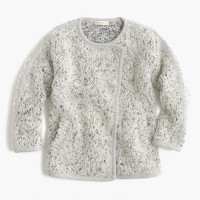 Girls' fuzzy sweater jacket