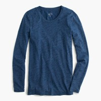 Indigo vintage cotton long-sleeve T-shirt