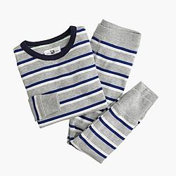 Boys' pajama set in double stripe