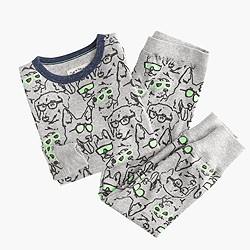 Boys' pajama set in cool canines