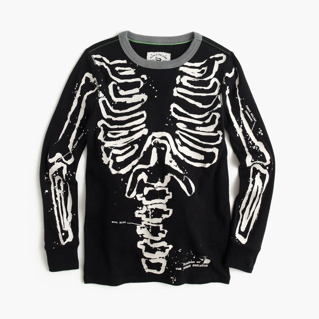 Boys' pajama set in glow-in-the-dark skeleton