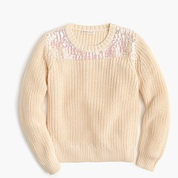 Girls' sequin sweater