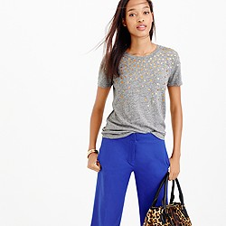 Falling metallic dots T-shirt