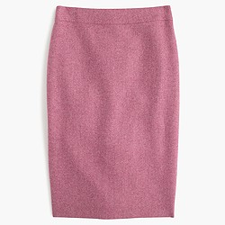No. 2 pencil skirt in Donegal wool