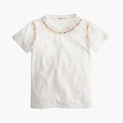 Girls' sequin necklace T-shirt