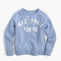 Girls' NYC Paris Tokyo sweatshirt