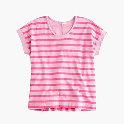 Girls' swingy wide-striped T-shirt