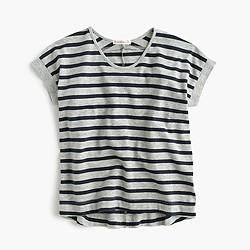 Girls' swingy wide-striped T-shirt