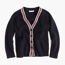 Girls' merino cardigan sweater