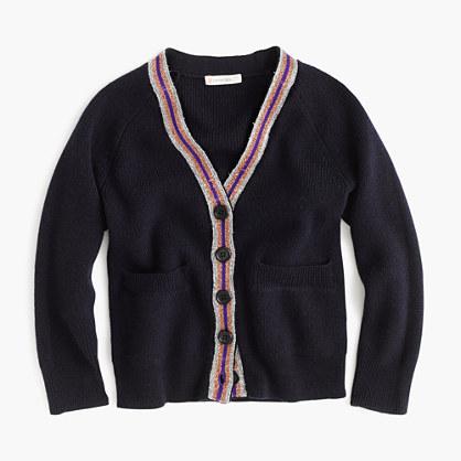 Girls' merino cardigan sweater