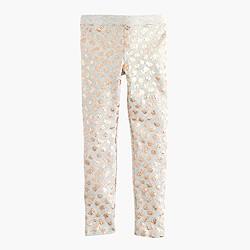 Girls' everyday leggings in leopard foil
