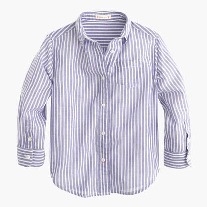 Girls' button-down shirt in stripe