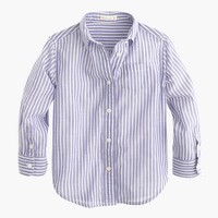 Girls' button-down shirt in stripe